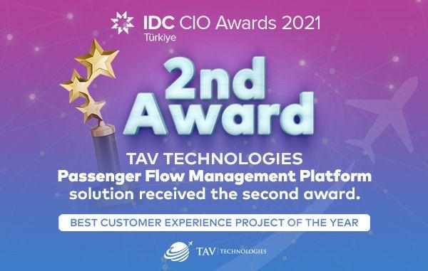 TAV Technologies receives IDC award with its passenger flow management solution